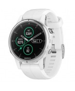 Garmin Fenix 5S Plus Sapphire White with Carrera White Band (010-01987-00)