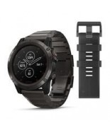 Garmin Fenix 5X Plus Sapphire Carbon Gray DLC Titanium with DLC Titanium Band (010-01989-04)