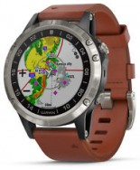 GARMIN D2 DELTA AVIATOR WATCH WITH BROWN LEATHER BAND 47mm (010-01988-30)